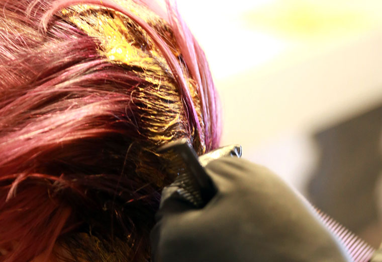 colouring hair